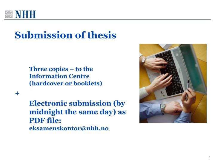 Submission of thesis