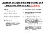 question 3 explain the importance and limitations of the source o p v l1
