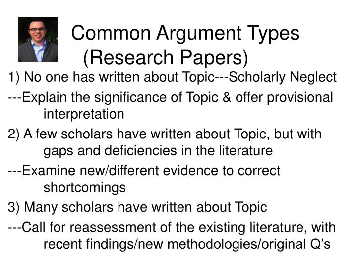 common types research paper Distinguishing the differences between different types of research papers there are several different ways to approach a research paper sometimes an instructor will specify what type of research paper they expect to receive, but occasionally the writer will be given the liberty to choose a format on their own.