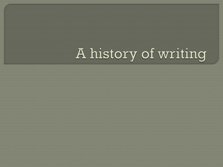 a history of writing n.