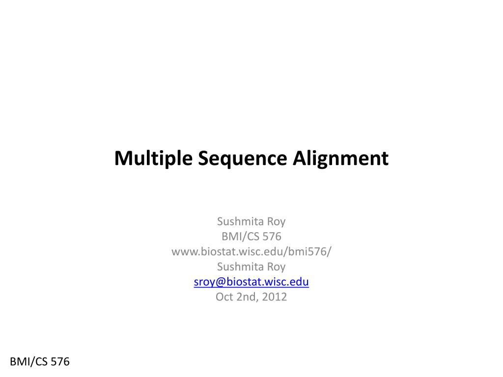 Ppt multiple sequence alignment powerpoint presentation id:4356011.