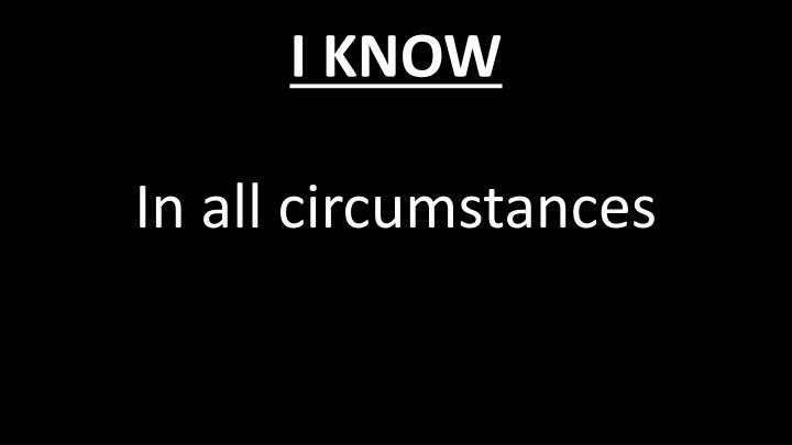 I know1