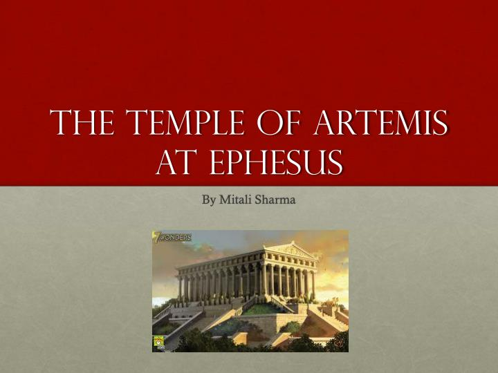 the temple of artemis at ephesus n.