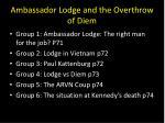 ambassador lodge and the overthrow of diem1