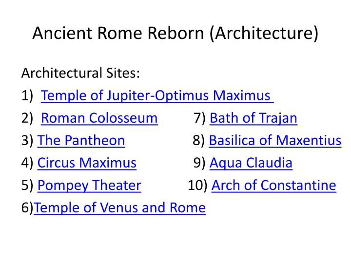 ancient rome reborn architecture n.