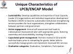 unique characteristics of lpcb encap model
