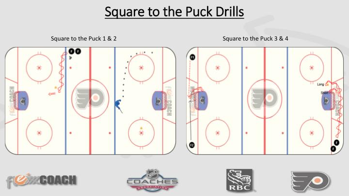 Square to the Puck Drills