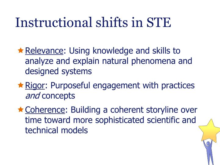Instructional shifts in STE