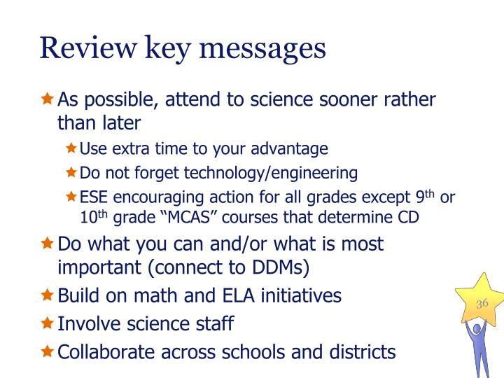 Review key messages