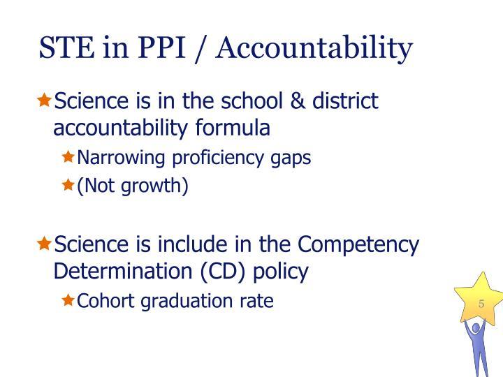 STE in PPI / Accountability
