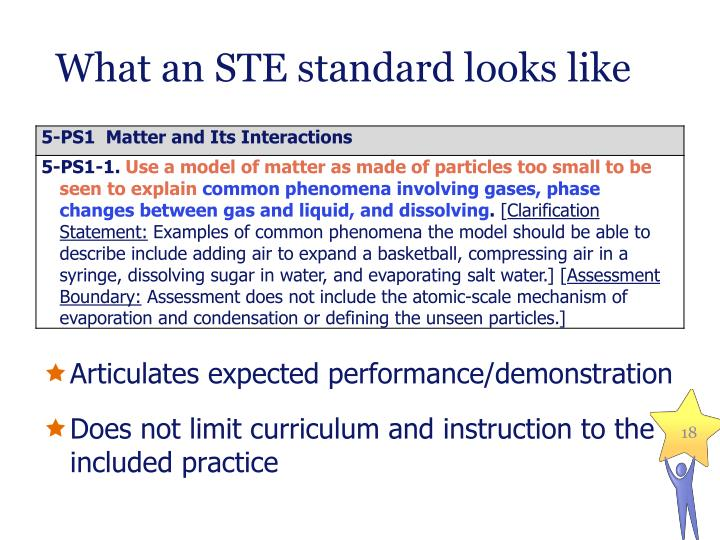 What an STE standard looks like