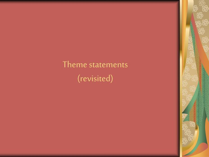 theme statements revisited n.