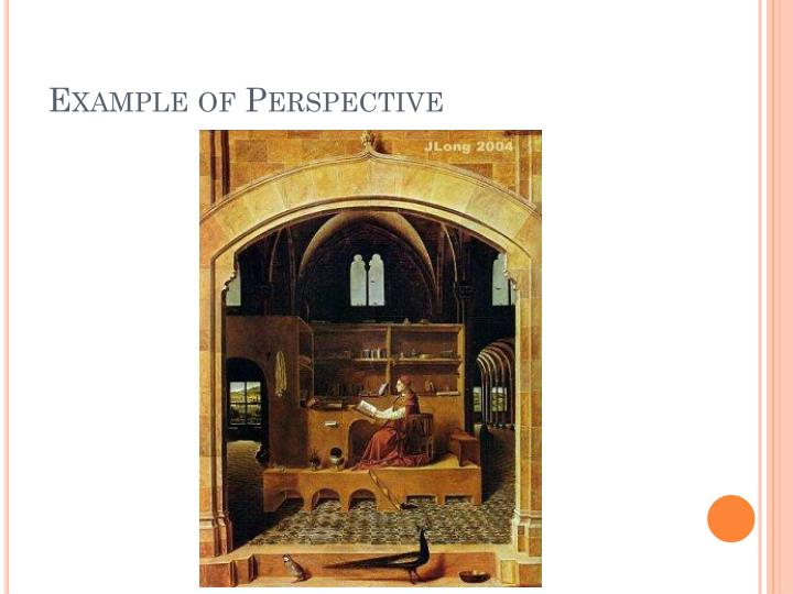 Example of Perspective