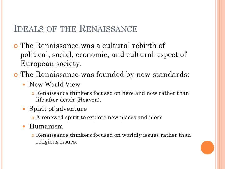Ideals of the Renaissance