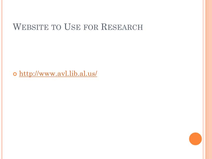 Website to Use for Research