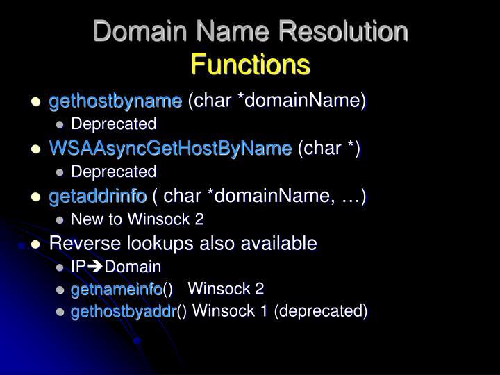 Domain Name Resolution