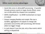 other event service advantages