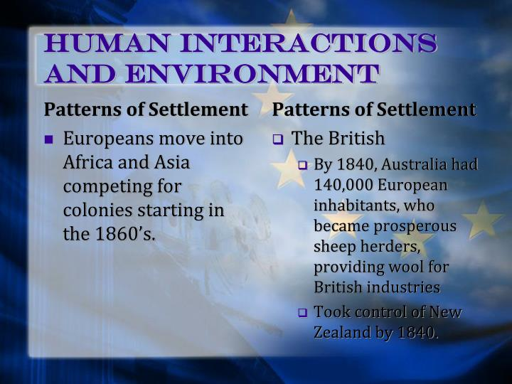 Human Interactions and Environment