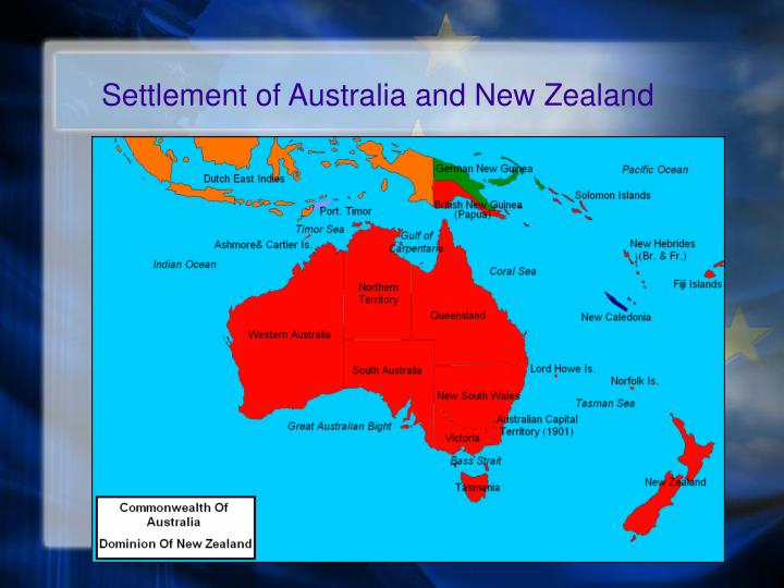 Settlement of Australia and New Zealand