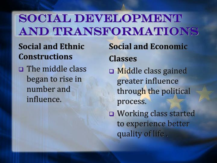 Social Development and Transformations