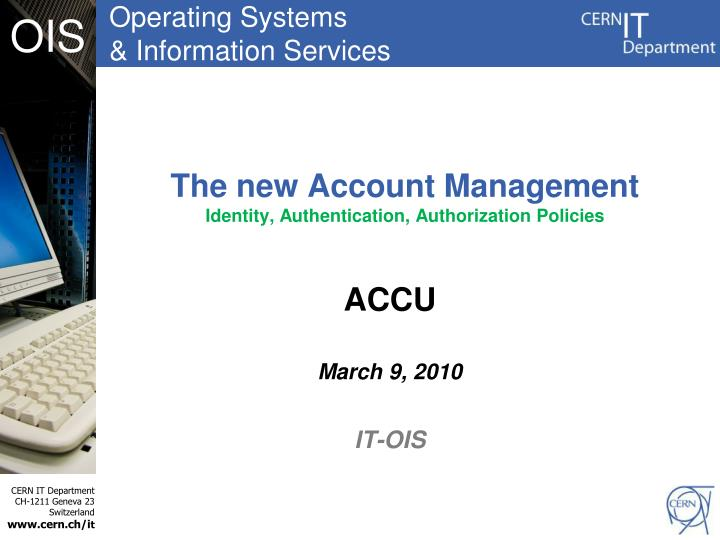 new account management Account management ¶ accounts¶ accounts the new account will be created in the default data directory, ie, the keyfile will be placed in the keystore.