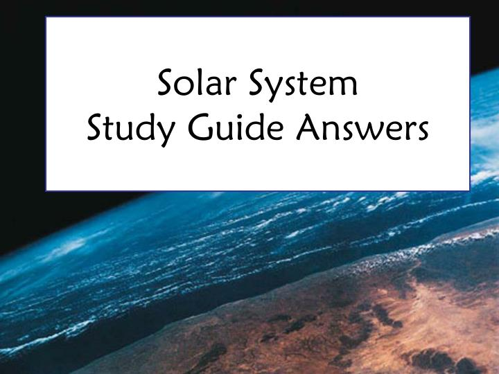 solar system study guide answers n.