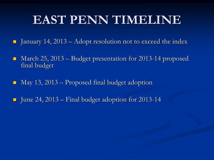 East penn timeline