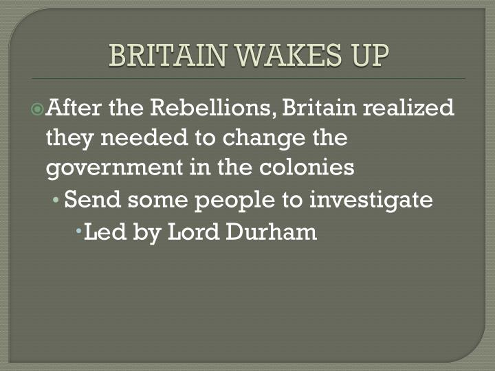 BRITAIN WAKES UP