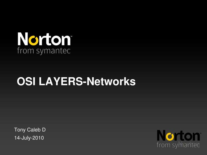 Osi layers networks