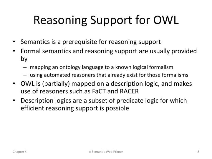 Reasoning Support for OWL
