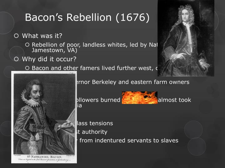 where did bacons rebellion occur