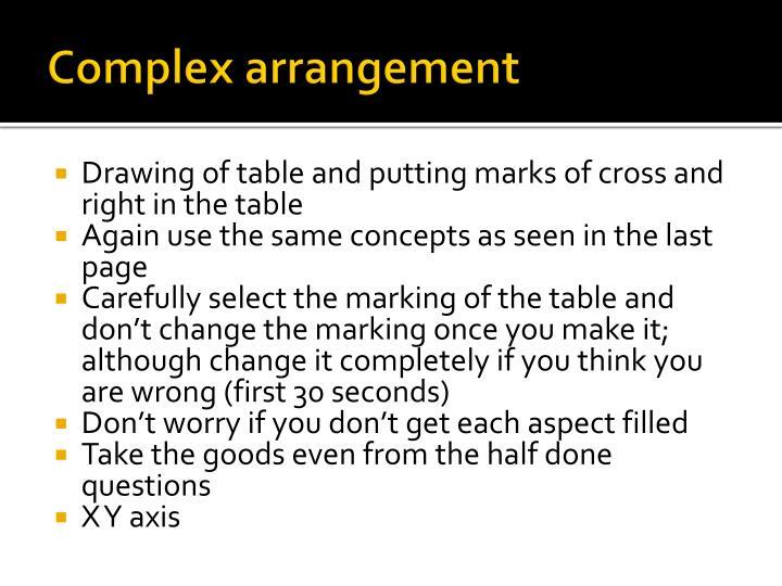 Complex arrangement