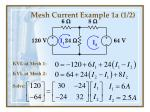 mesh current example 1a 1 2