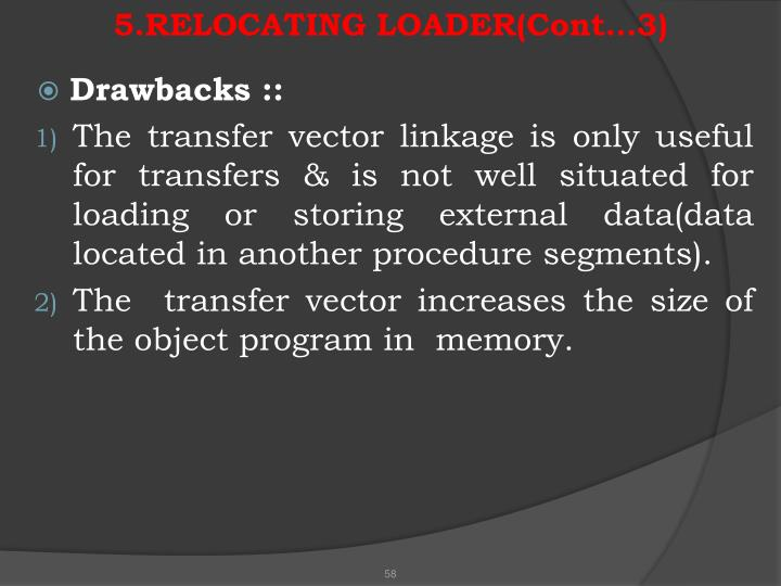 5.RELOCATING LOADER(Cont…3)