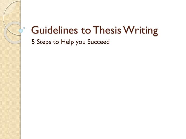 steps on writing a thesis paper