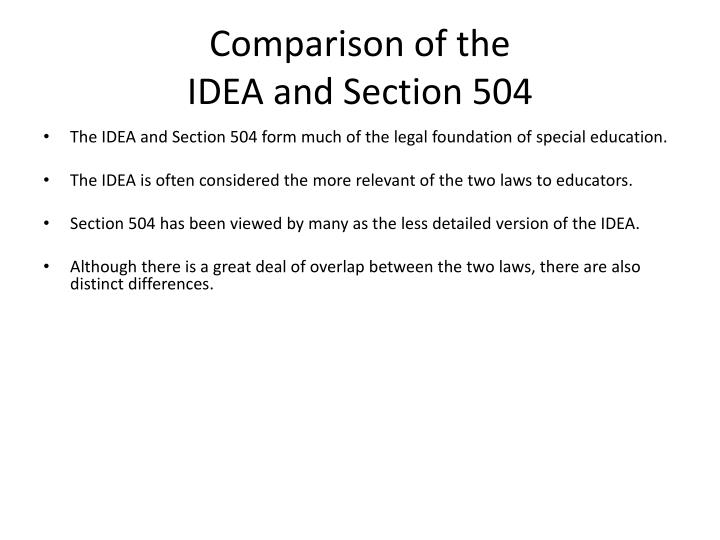 PPT - Section 504 of the Rehabilitation Act of 1973 ...