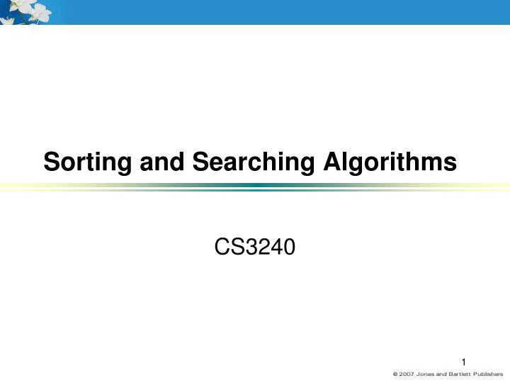 sorting and searching algorithms n.