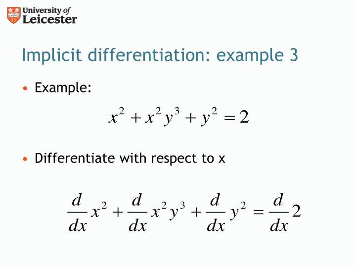 Ppt Implicit Differentiation Powerpoint Presentation Id2567081