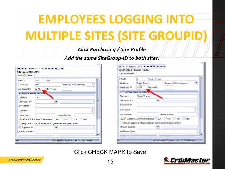 Employees Logging into MULTIPLE Sites (SITE GROUPID)
