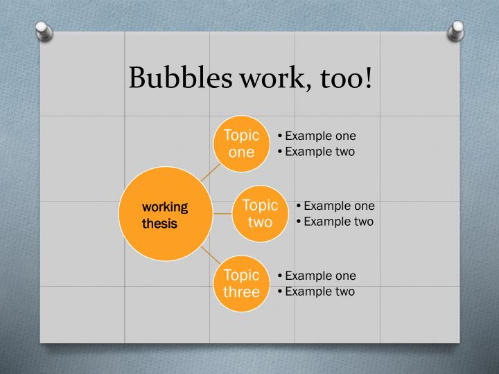 Bubbles work, too!