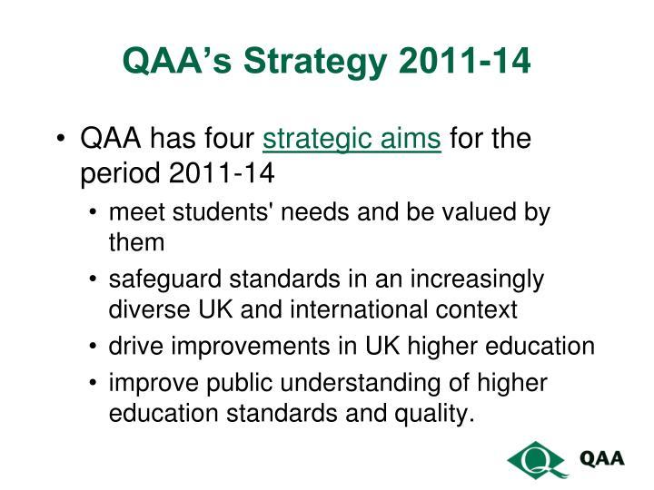 Qaa s strategy 2011 14