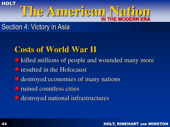 Section 4: Victory in Asia