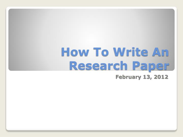 2012 research paper thesis Every person has to write a research paper at some points in his lifetime apparently, it is an intimidating task and involves a lot of hard workuniversities and colleges are trying their best to give students a better understanding and expertise in this intellectual field.