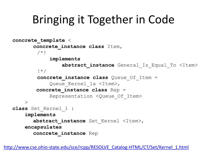 Bringing it Together in Code