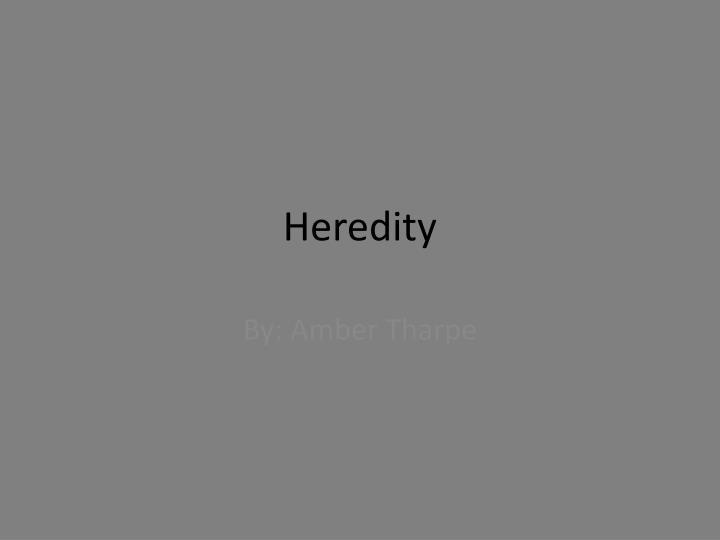 heredity n.