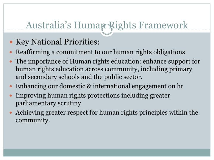 Australia s human rights framework