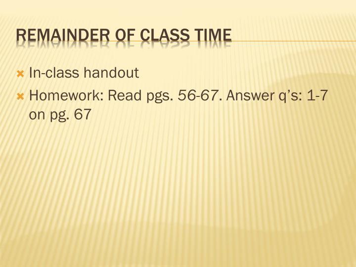 In-class handout