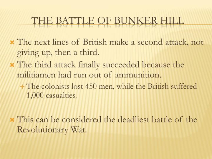 The next lines of British make a second attack, not giving up, then a third.