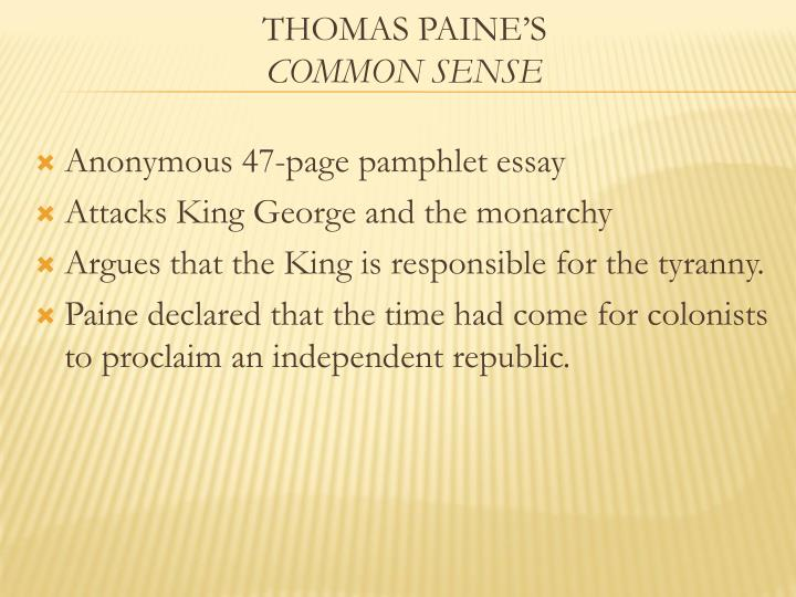Anonymous 47-page pamphlet essay