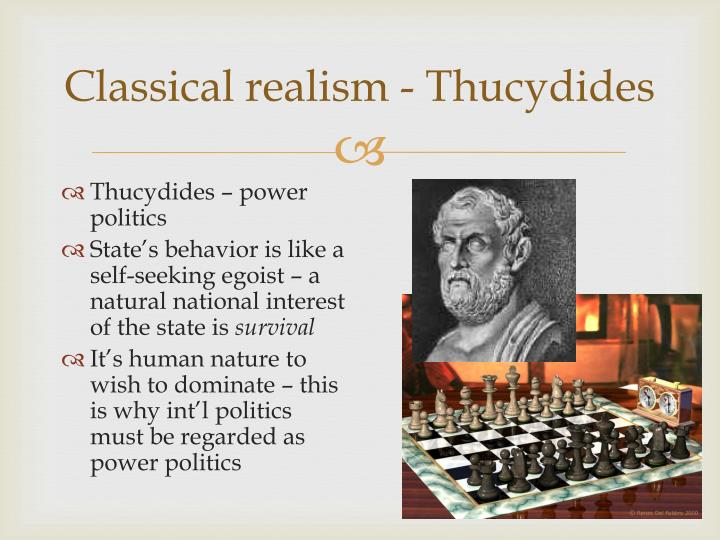 Classical realism thucydides